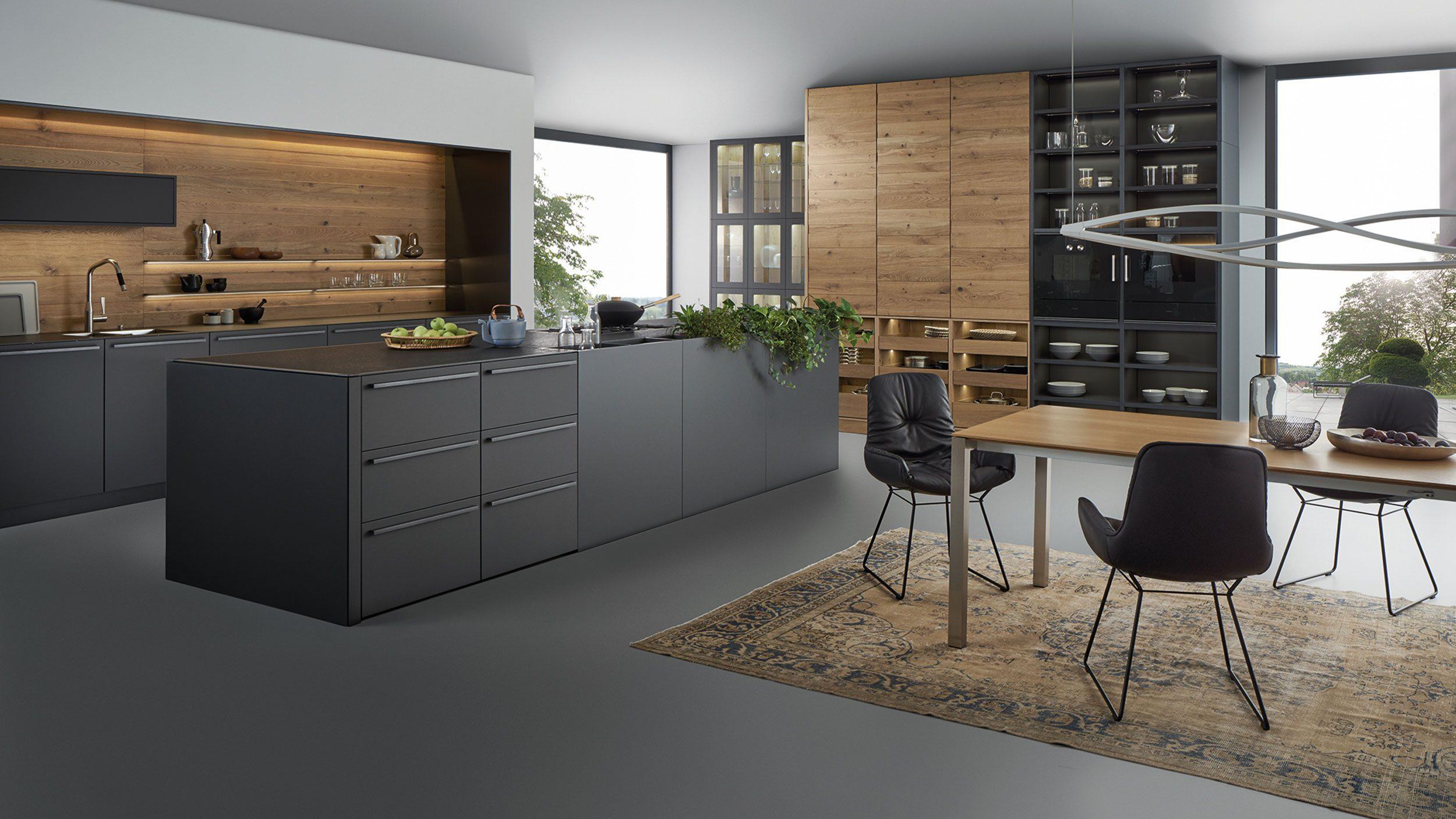 Gesamtansicht der Küche von LEICHT, Gestaltungslinie EVO