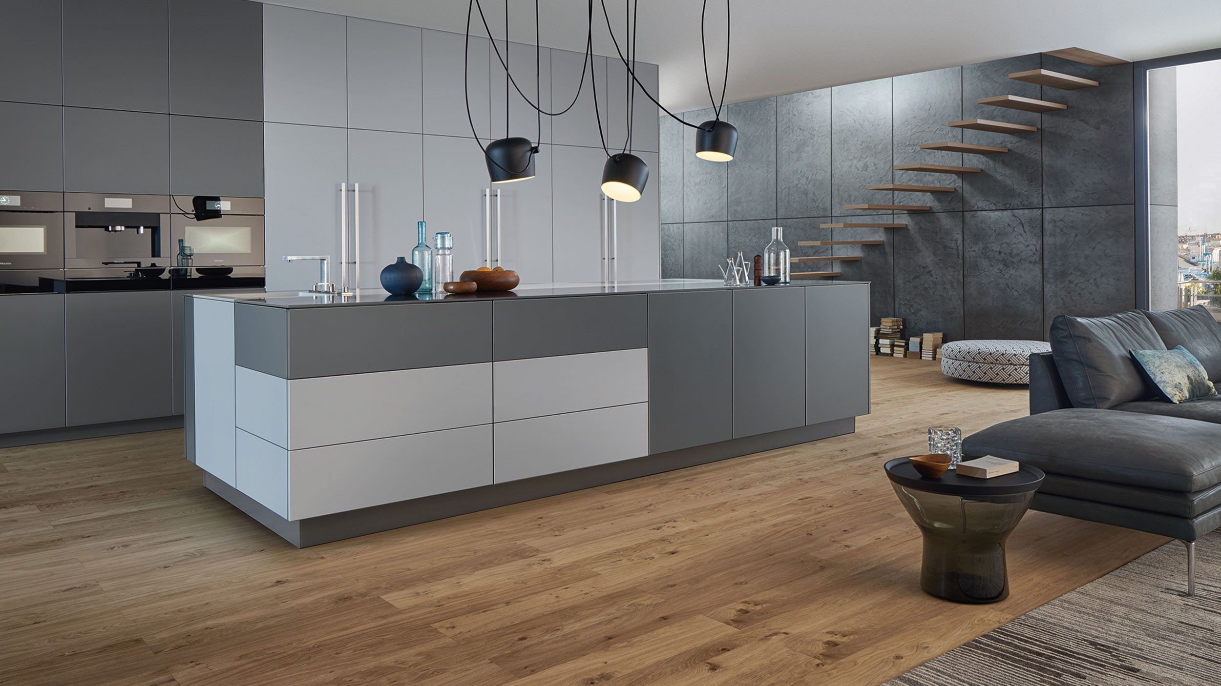 Gesamtansicht der Küche von LEICHT, Gestaltungslinie PRIMO